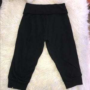Fabletics Pants - Fabletics Black Cropped Fold over Jogger